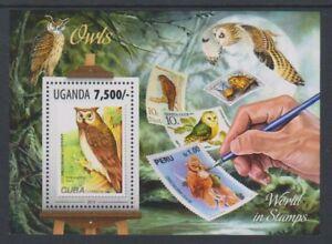 Uganda - 2013, 7,500 Owls sheet - MNH