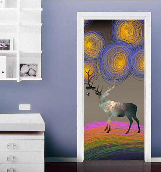 3D Hirsch 78 Tür Wandmalerei Wandaufkleber Aufkleber AJ WALLPAPER DE Kyra