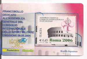 ITALIA-2006-TESSERA-FILATELICA-MANIFESTAZIONE-ROMAFIL-RARO