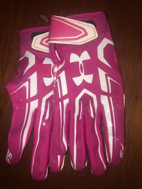 New w//tag Under Armour Football Receiver Gloves XXL Pink