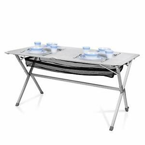Tavolo In Alluminio Da Campeggio.Tavolo Da Campeggio Giardino Picnic In Alluminio 140x76cm Con