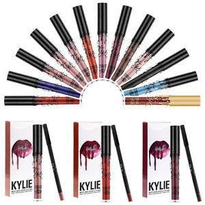 23 Colors Gloss Waterproof Longue Tenue Matte Rouge À Lèvres + Crayon à Lèvres
