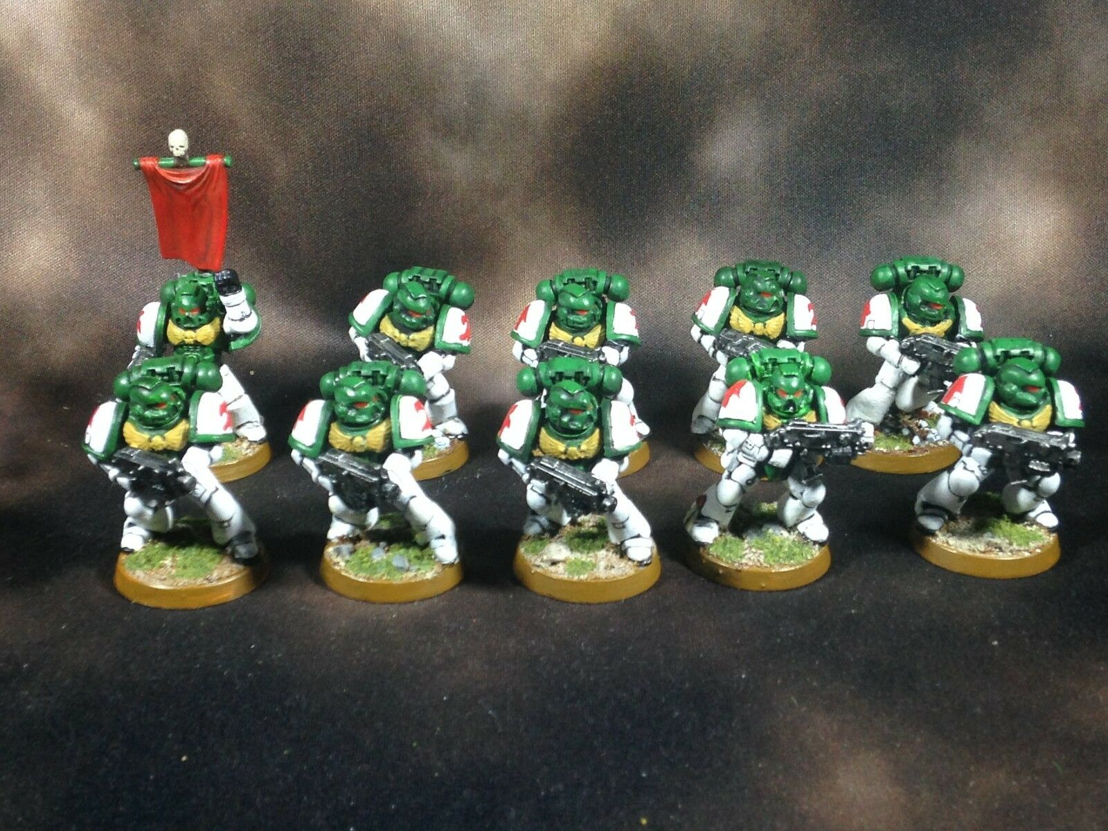 Warhammer 40k Space Marines Tacticals Painted