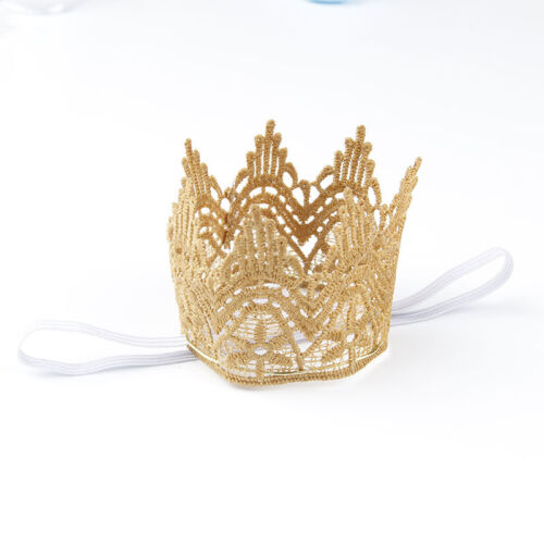 Newborn Baby Girls Infant Toddler Big Crown Headband Hair Band Headwear Tiara