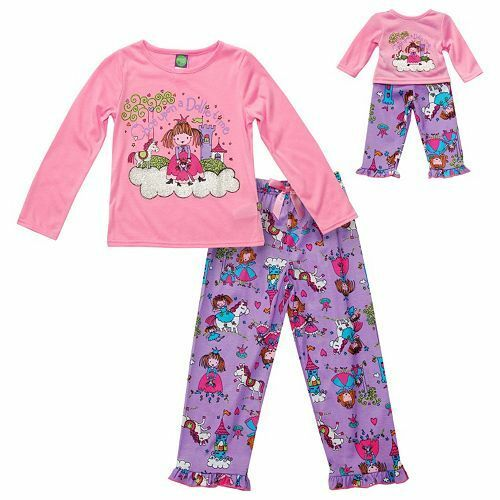 Dollie /& Me Girl 4-14 and Doll Matching Princess Pajama Set Outfit American Girl