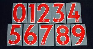 nueva temporada a un precio razonable mejor Detalles de Futbol Premier League 2018/19 Rojo Corto números 0-9  reproductor de identificación Deportivos Talla- ver título original