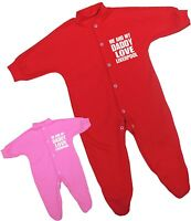 BabyPrem Me + Dad Love LIVERPOOL Baby Clothes Sleepsuit Babygrow Newborn - 12 m