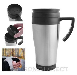 Image Is Loading S Steel Travel Mug Cup Hot Warm Cold
