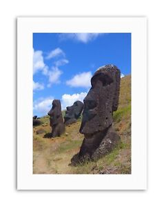 LANDSCAPE-EASTER-ISLAND-STONE-HEAD-MOAI-Picture-Canvas-art-Prints