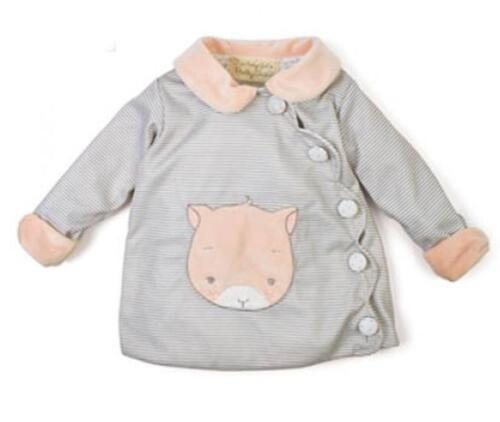Bunnies by the Bay Purr-ty Scallop Kitty Applique Button Up Jacket Coat New