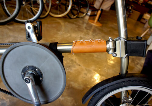 Ba sport Bicycle leather DOWN TUBE COVER Frame Protector for STRIDA