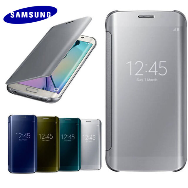 Mirror Smart View Clear Flip Case Cover For Samsung Galaxy S6 S6 EDGE