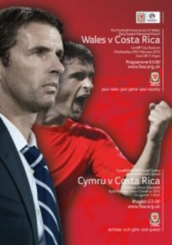 2012 WALES v COSTA RICA GARY SPEED MEMORIAL GAME 29th FEB