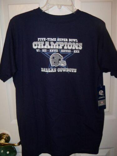 Dallas Cowboys Navy Blue Super Bowl Shirt Youth Boys Size 18 20 NWT  #31
