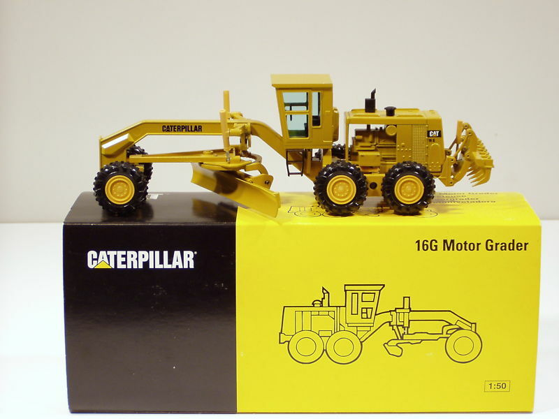 Caterpillar 16 G Niveleuse - 1 50 - NZG  387 - Comme neuf IN BOX