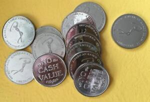 Lot Of 12 Golf Coins Golf Range Drivingtokens 2 Bucket Of