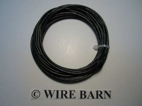 MTW 16 AWG GAUGE BLACK STRANDED COPPER WIRE 25 FEET MACHINE TOOL WIRE USA MADE