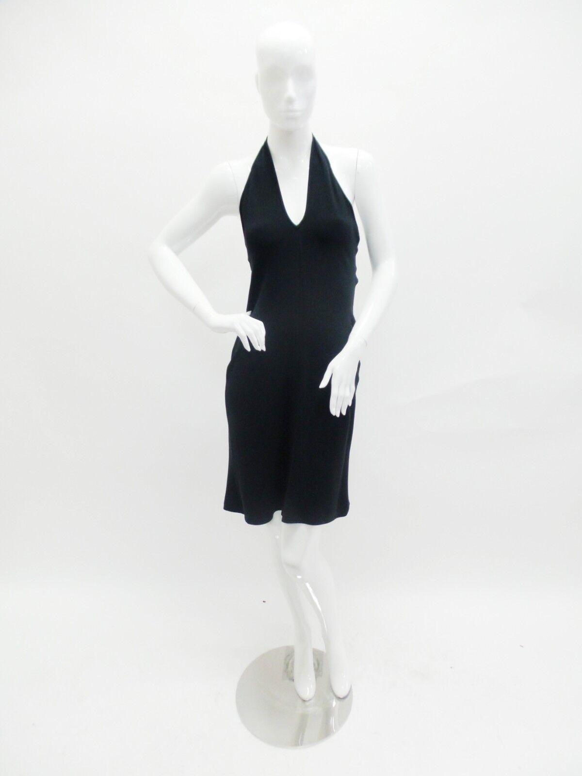 Celine   schwarz Halter Dress Größe 6