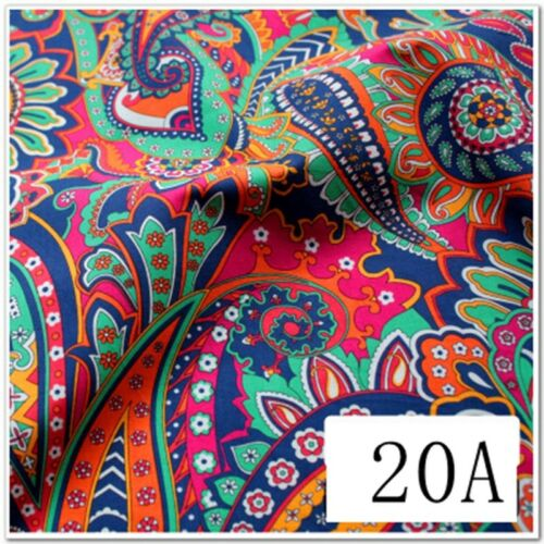 50*50CM Fasion Flower 100/%cotton fabric Quilting Clothes Bedding Sewing Craft D