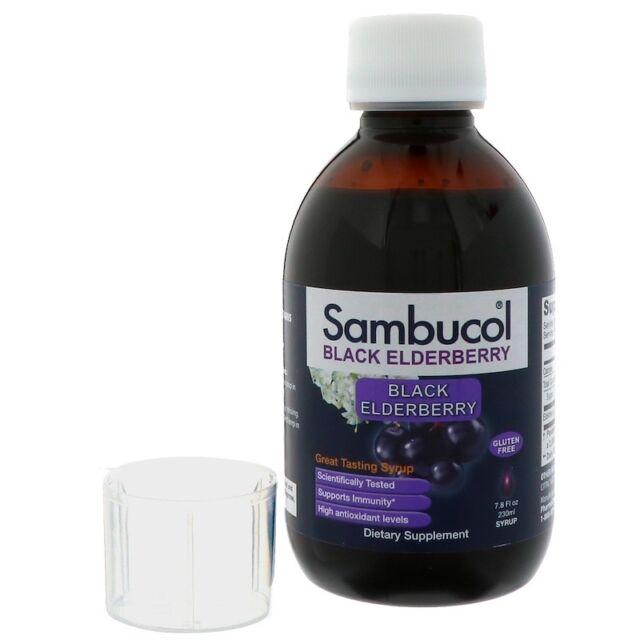 NEW SAMBUCOL BLACK ELDERBERRY IMMUNE SYSTEM SUPPORT ORIGINAL SUPPORT DAILY CARE
