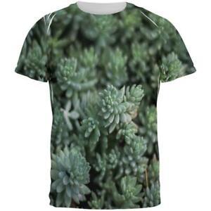 Succulent Plants Pot Head Stone Flowers VIntage Retro Men T-Shirt Cotton
