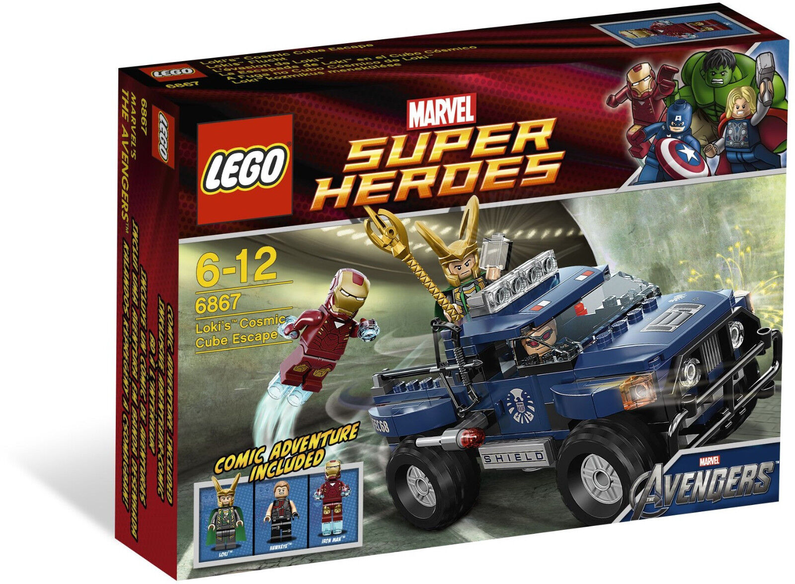 Lego 6867 Super Heroes Loki's Cosmic Cube Escape  Sealed Box  Iron Man