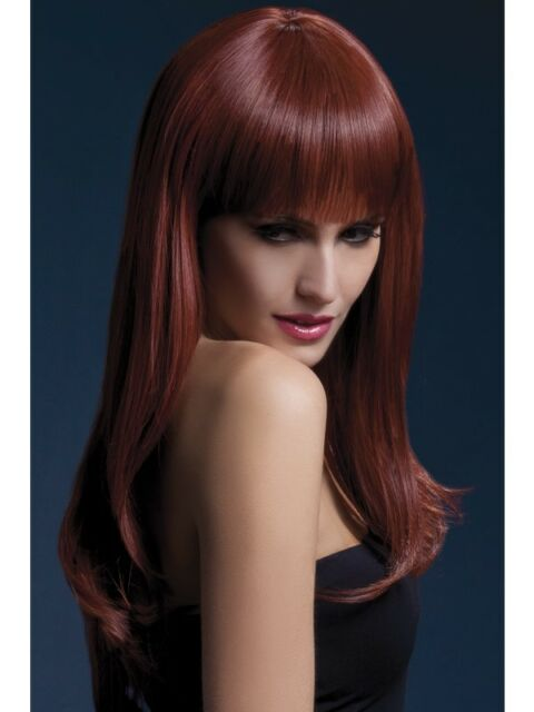 26inch//66cm Adult Womens Smiffys Fancy Dress Costume Brown Fever Sienna Wig