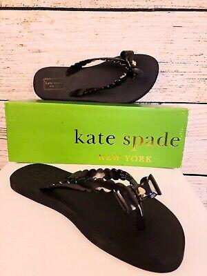 Kate Spade Denise Black Flip Flops