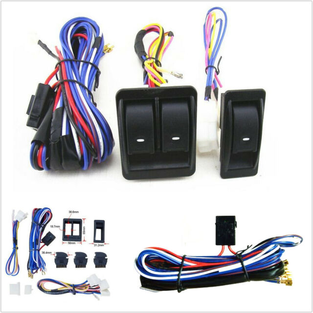 12v universal power window switch kits top quality with wiring rh ebay com Chevelle Power Window Wiring EZ Wiring Power Window Kits