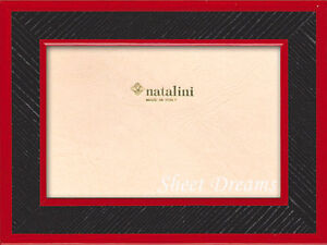 Natalini Hand Made in Italy Red Black Marquetry 4x6 Photo Picture Frame