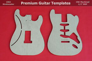 1960 S Stratocaster Guitar Body Router Template Set Strat Cnc 1 2