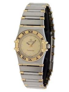 Omega-Constellation-Vintage-23mm-18k-Gold-Champagne-Diamond-Quartz-Ladies-Watch