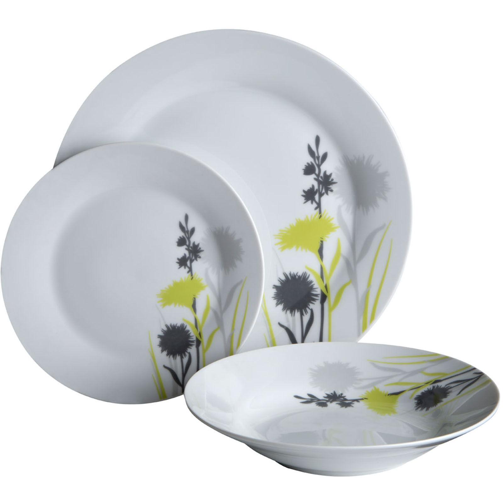 Denby Intro Soft Grey 4 Piece Pasta Bowl Set Stoneware Tableware Dinnerware