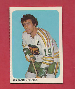 RARE-1973-74-WHA-QUAKER-OATES-CHICAGO-COUGARS-JAN-POPIEL-MINI-CARD