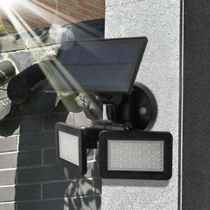 Etanche-48LED-Lampe-Solaire-Radar-Sensor-Jardin-Exterieur-Lumiere-Eclairage-FR
