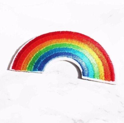 Chaqueta Vaquera personalizado de Bricolaje Accesorio Arco Iris Orgullo Hierro en coser parche bordado
