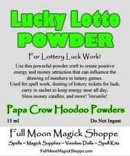 Lucky Lotto Hoodoo Powder Lottery Luck Money Winning Root Magick Offering Dust