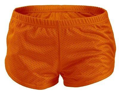 Orange SOFFE Teeny Tiny Mesh Running/Cheer/Beach Short Shorts Juniors Size XS