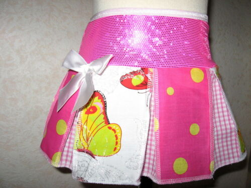 New White Pink Blue yellow Check Butterfly spots Hippy Festival Skirt party Gift