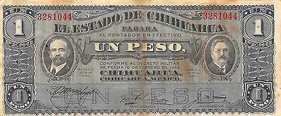 North & Central America Latest Collection Of Mexico Chihuahua 1 Peso 8.1.1915 Run Yy-la Series A Circulated Banknote Quell Summer Thirst