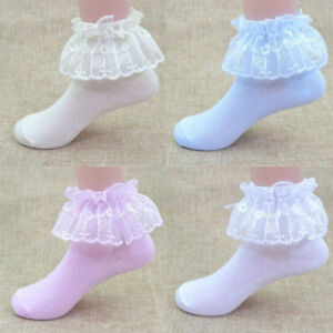 Toddler-Baby-Girls-Kids-lace-Anti-slip-Princess-Socks-Cotton-Ankle-Sock-Shoes
