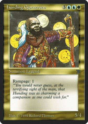 Hunding Gjornersen Legends PLD Uncommon MAGIC THE GATHERING MTG CARD ABUGames