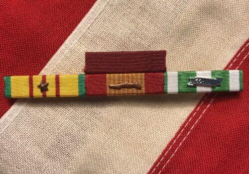 Vietnam Combat Action USN Navy 4 Ribbon Bar Mounted Good Conduct
