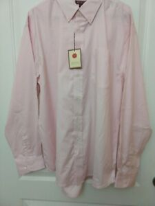 NWT-Red-House-Mens-Button-Up-Shirt-Sz-XL-Pink-Cotton-Long-Sleeves