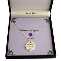 Sterling Silver Necklace With Engraved Disc For Man, Boy, Personalised Jewellery
