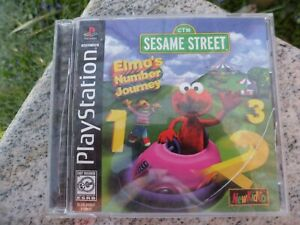 Sesame-Street-Elmo-039-s-Number-Journey-Sony-PlayStation-1-1999-Video-Game-Complete