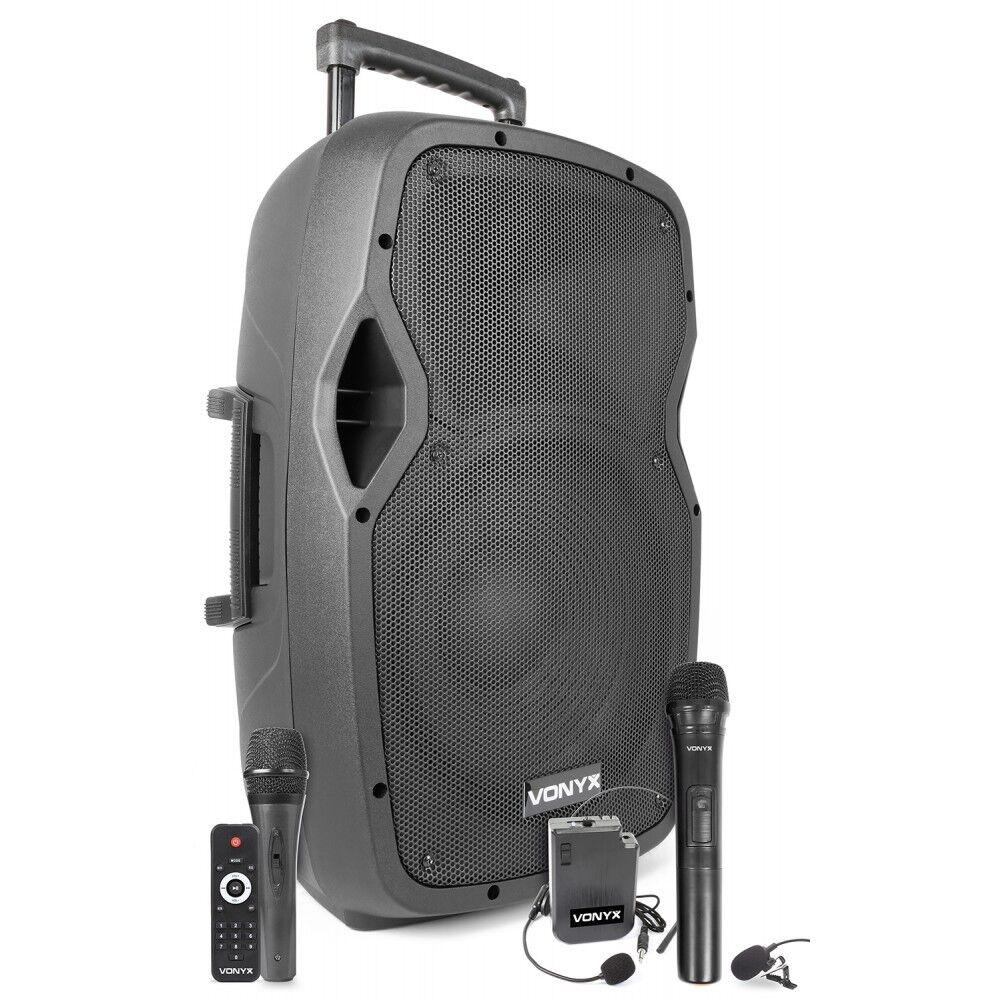 Lautsprecher Verstärker Tragbar Verstärkt 600W Schlagzeug Mikrofone USB