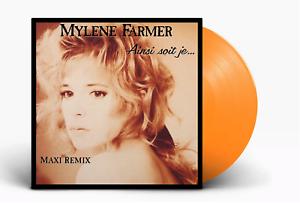 """Mylène Farmer 12"""" Ainsi Soit Je... (Maxi Remix) - Tirage Limité, Vinyle Orange"""