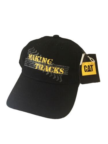 "Caterpillar CAT Equipment /""Making Tracks/"" Boys Youth Kids Black Hat//Cap"