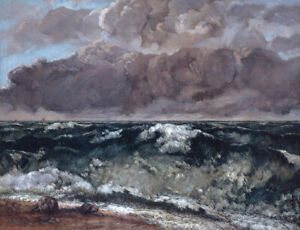 The Wave Gustave Courbet  Seascape Print on Canvas Home Decor Wall Art Small